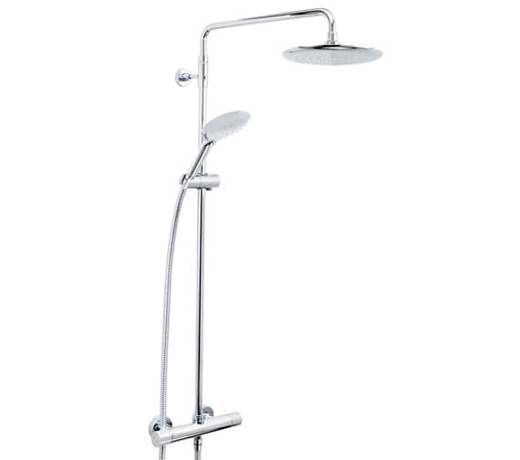 Bristan Carre Fixed Head Thermostatic Bar Shower Valve With Rigid Riser