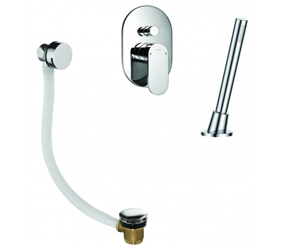 Flova Smart Manual Shower Pack With Bath Overflow Filler