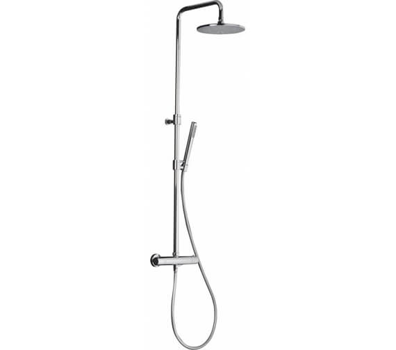 Abode Euphoria Thermostatic Shower Valve With Fixed Head And Rigid Riser Kit