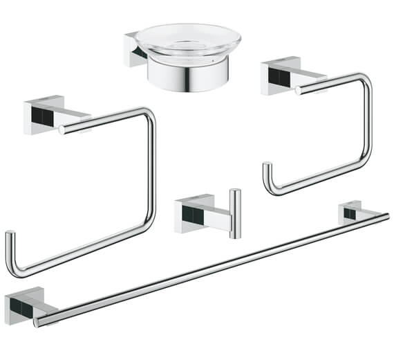 Grohe Essentials Cube Master Set Of 5 Bathroom Accessories
