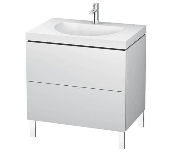 Duravit L-Cube Double Drawer Floor Standing Vanity Unit With C-Bonded Washbasin