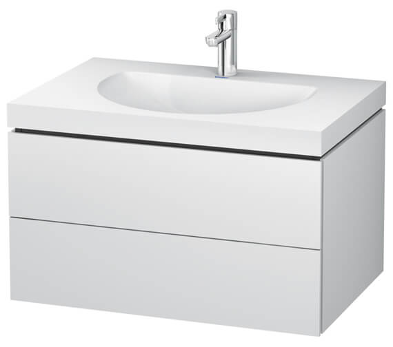 Duravit L-Cube Double Drawer Vanity Unit With C-Bonded Washbasin