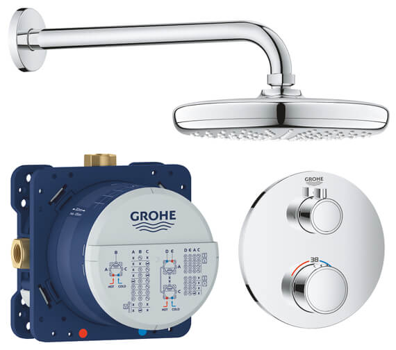 Grohe Grohtherm Perfect Shower Set With Tempesta 210