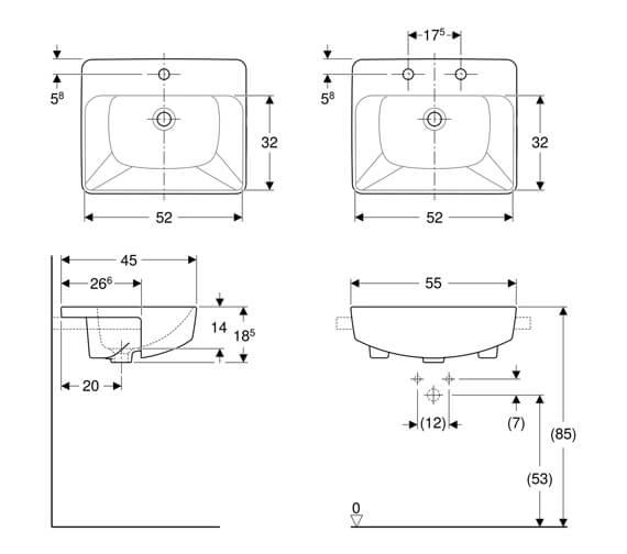 Technical drawing QS-V93826 / 500.681.01.1