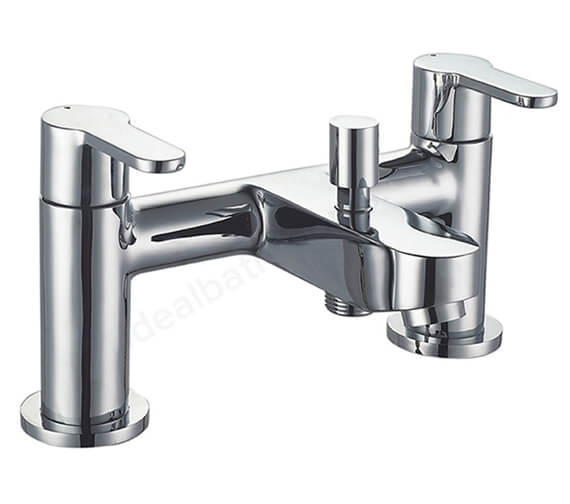Essential Camden Modern Bath Shower Mixer Tap With Kit - Deck Mounted