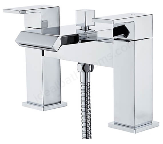 Essential Elsden Bath Shower Mixer Tap With Kit And Wall Bracket