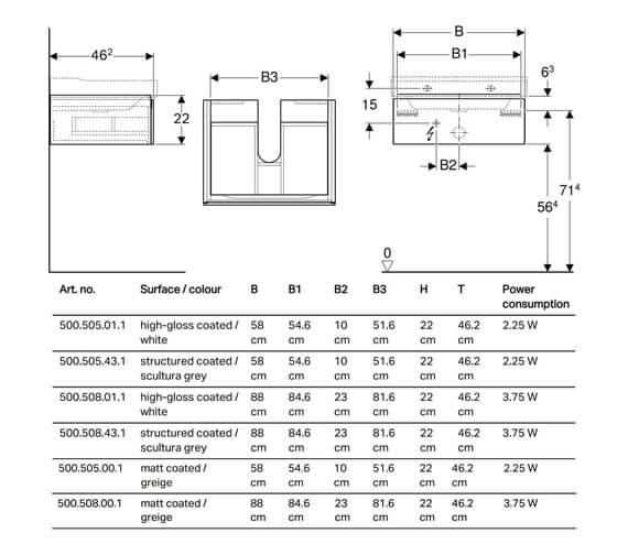 Technical drawing QS-V93740 / 500.505.01.1