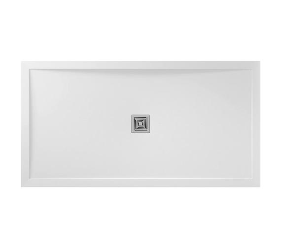 April Waifer Rectangular White Gloss Shower Tray