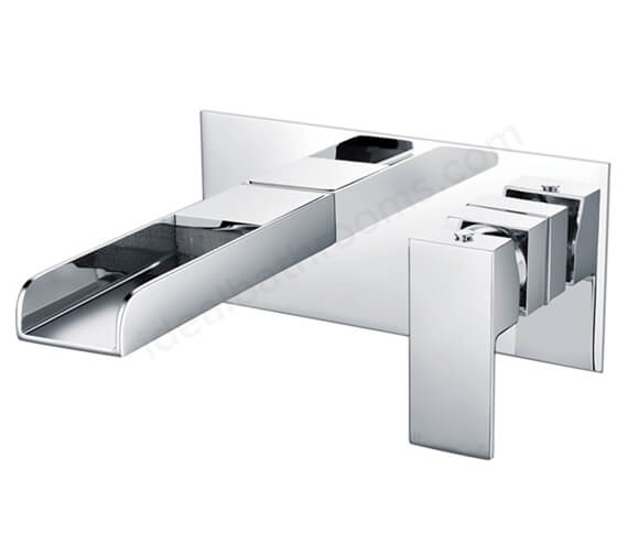 Essential Soho Wall Mounted Basin Mixer Tap With Click Clack Waste