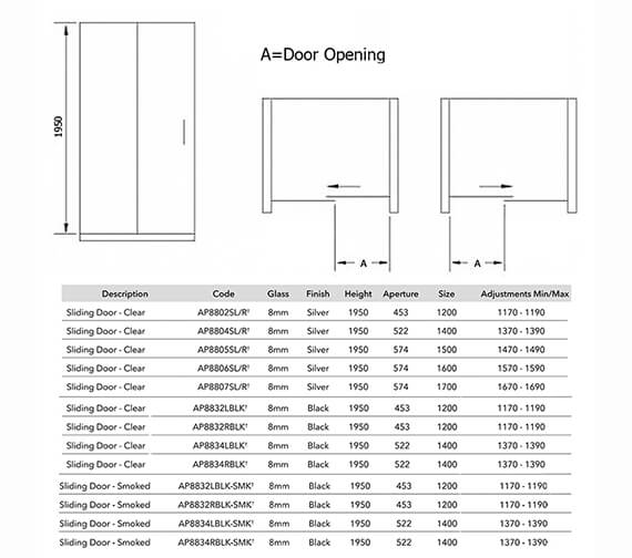 Technical drawing QS-V84200 / AP8802SL