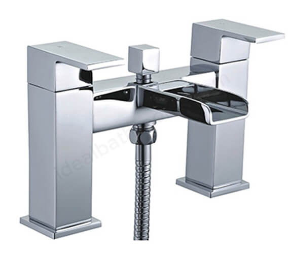 Essential Soho Bath Shower Mixer Tap With Kit And Wall Bracket