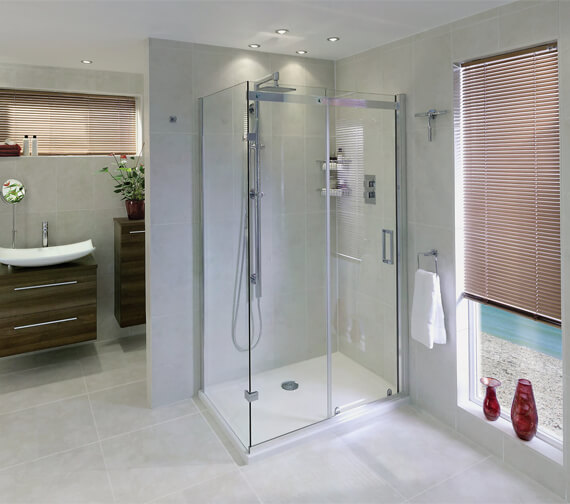 Additional image of Aqata Spectra SP305 Spacious Sliding Door 1200mm And 760mm Side Panel