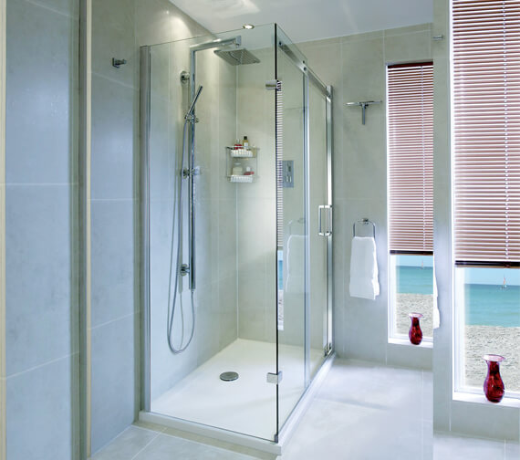 Aqata Spectra SP305 Spacious Sliding Door 1200mm And 760mm Side Panel