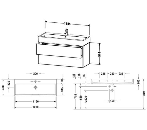 Technical drawing QS-V80788 / LC627401818
