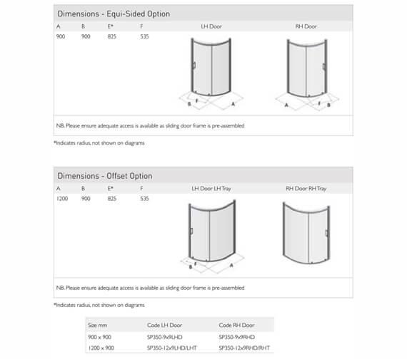 Technical drawing QS-V100109 / SP350-9X9LHD