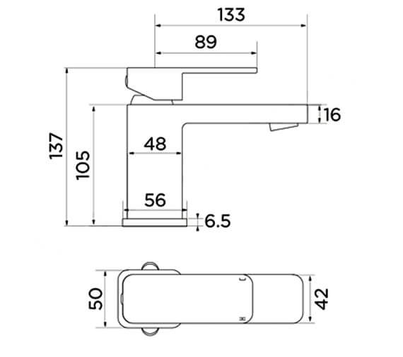 Technical drawing QS-V99726 / ET9136