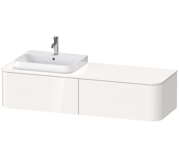 Duravit Happy D.2 Plus 1600 x 550mm Vanity Unit With 2 Pull-Out Compartment For Washbasin Left