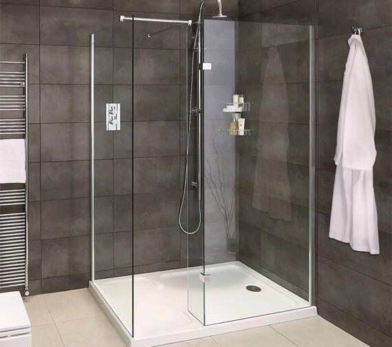 Aqata Spectra SP425 Walk-In Shower Enclosure For Corner Installation