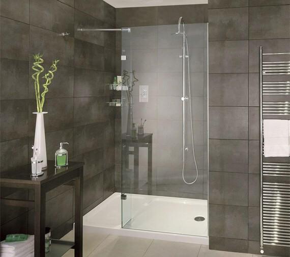 Aqata Spectra SP420 Luxurious Walk-In Shower Screen Recess 1400mm