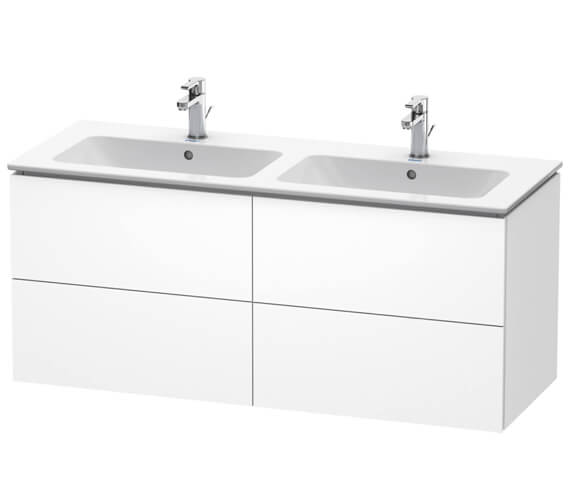 Duravit L-Cube 1290mm Wide 4 Drawers Wall Mounted Vanity Unit For Me By Starck Basin