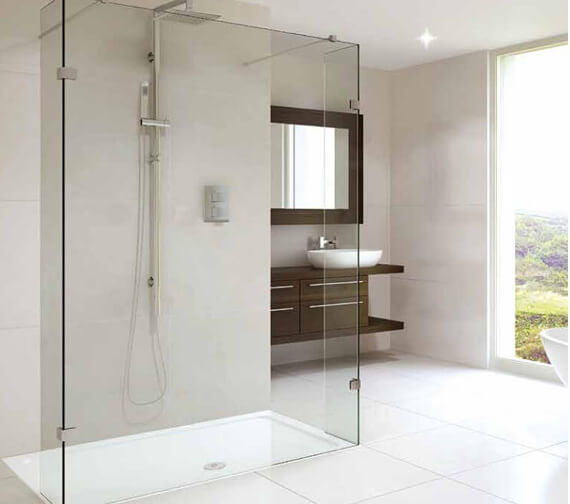 Aqata Spectra SP450 Double Entry Shower Screen 1200mm With Fixed Return Panel