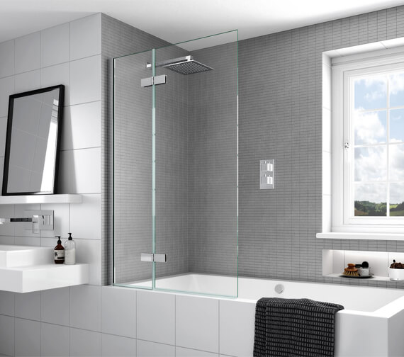 Aqata Spectra SP485 Outward Opening Luxurious Bath Screen 1000 x 1500mm