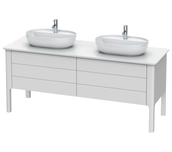 Duravit Luv 1783 x 570mm 2 Compartment And 2 Drawer Vanity Unit