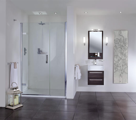 Aqata Spectra SP457 800mm Hinged Door And Inline Panel For Recess Installation
