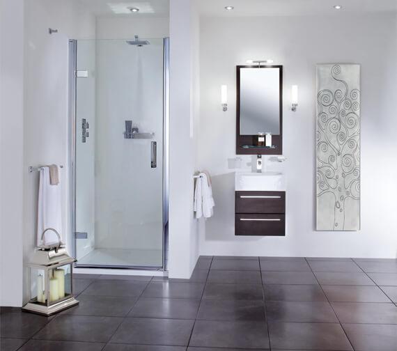 Aqata Spectra SP455 Elite Hinged Shower Door For Recess Installation - 760mm Wide