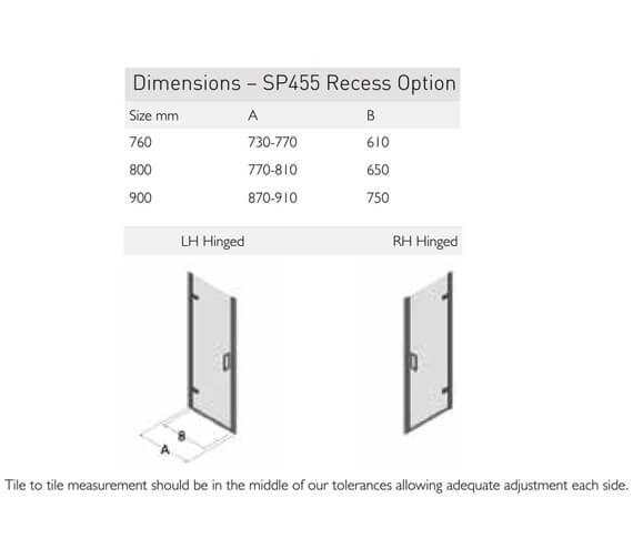 Technical drawing QS-V100145 / SP455-760LHH