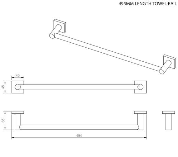 Technical drawing QS-V15634 / 8806C