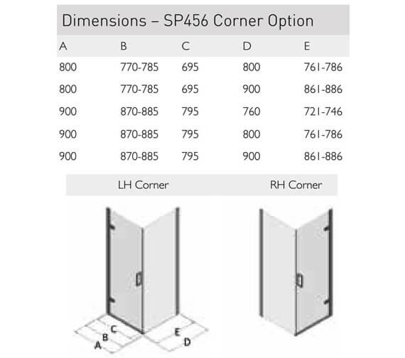 Technical drawing QS-V100146 / SP456-9x76LHC