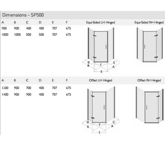 Technical drawing QS-V100147 / SP500-9x9LHH