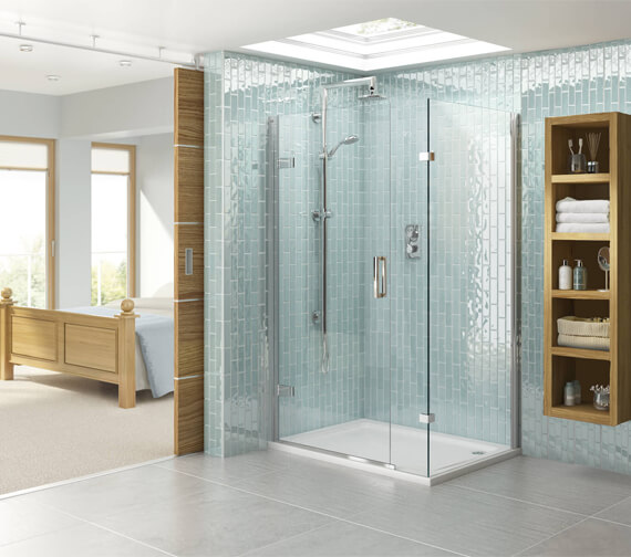 Aqata Spectra SP458 900 x 760mm Hinged Door And Inline Panel For Corner