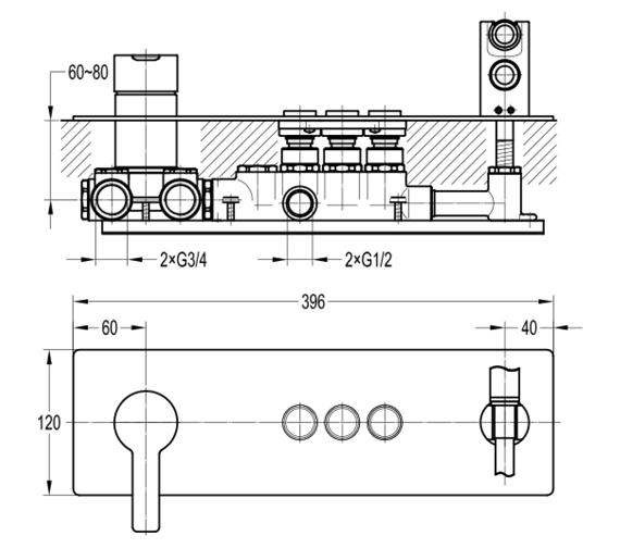 Technical drawing QS-V101046 / SRMHGO3
