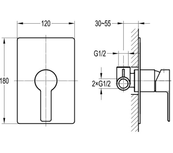 Technical drawing QS-V101045 / SRSHVO