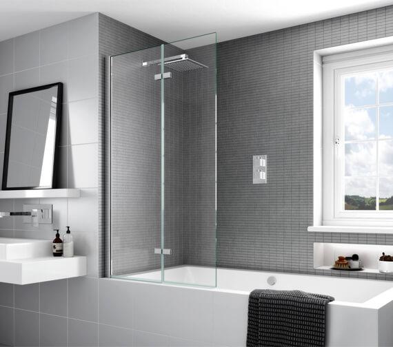 Additional image of Aqata Spectra Inward or Outward Opening Bath Screen 900mm
