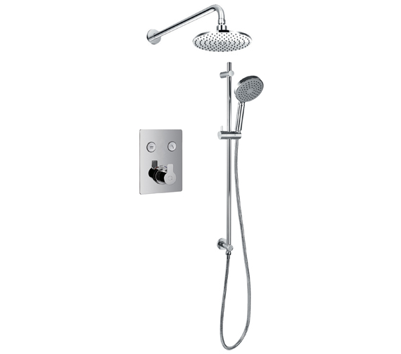 Flova Spring Thermostatic Goclick 2 Button Concealed Shower Pack