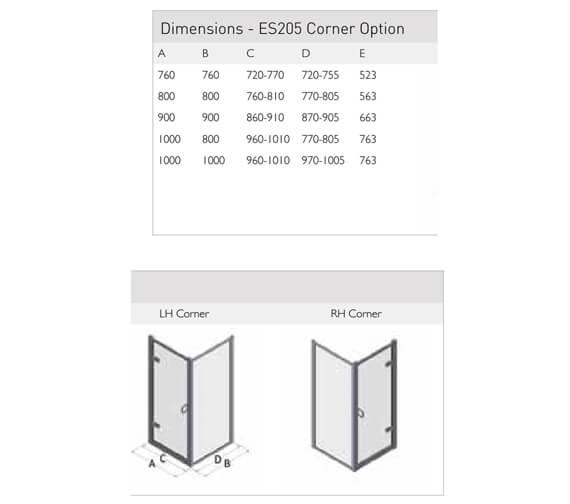 Technical drawing QS-V100156 / ES205-76x76LHC