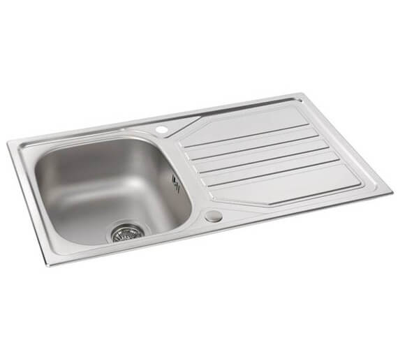 Abode Mikro 1.0 Bowl Stainless Steel Kitchen Sink With Drainer