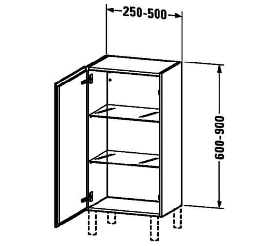 Technical drawing QS-V63795 / LC1189L1818