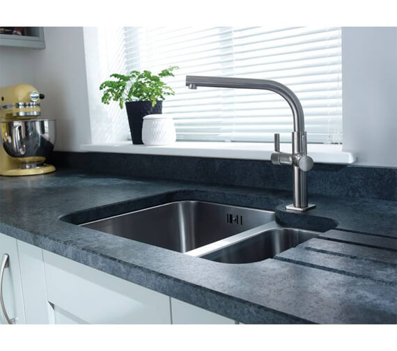 Additional image of Abode Matrix R50 1.5 Bowl Stainless Steel Kitchen Sink
