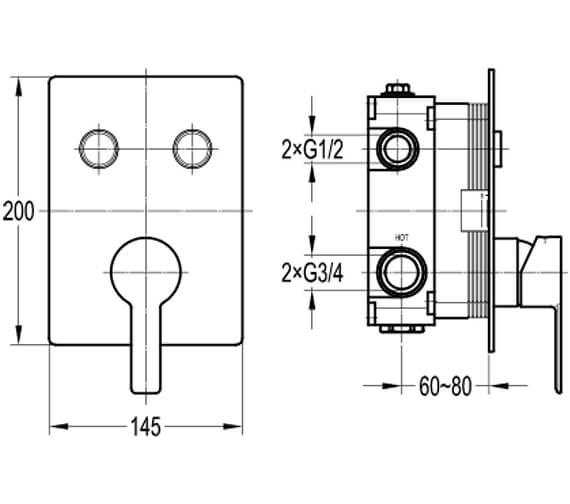 Technical drawing QS-V101047 / SRMGO2