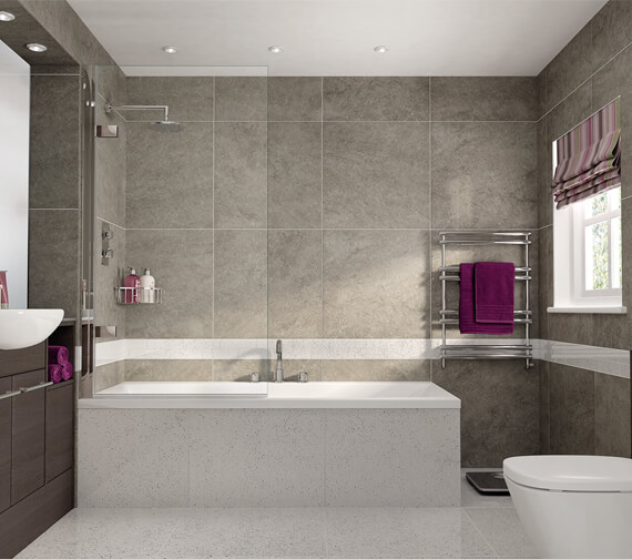 Aqata Spectra SP495 850mm Wide Single Panel Elegant Bath Screen