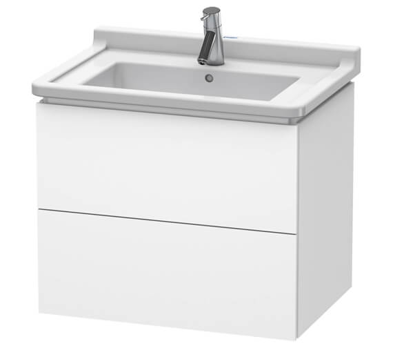 Duravit L-Cube 2 Drawer Wall Mounted Vanity Unit For Starck 3 Basin