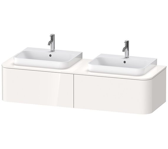 Duravit Happy D.2 Plus 1600mm Vanity Unit With 2 Pull-Out Compartment For Two Basin