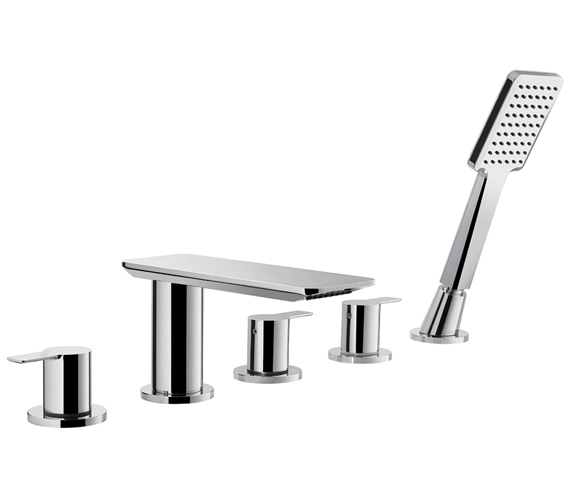 Flova Spring 5 Hole Bath And Shower Mixer Tap With Shower Set