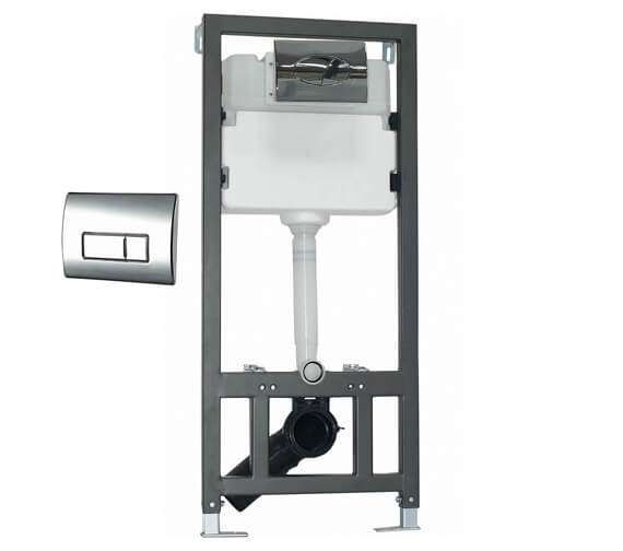 Phoenix Wall Hung WC Fixing Frame With Cistern And Flush Plate
