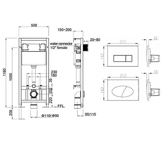Technical drawing QS-V21223 / CC020