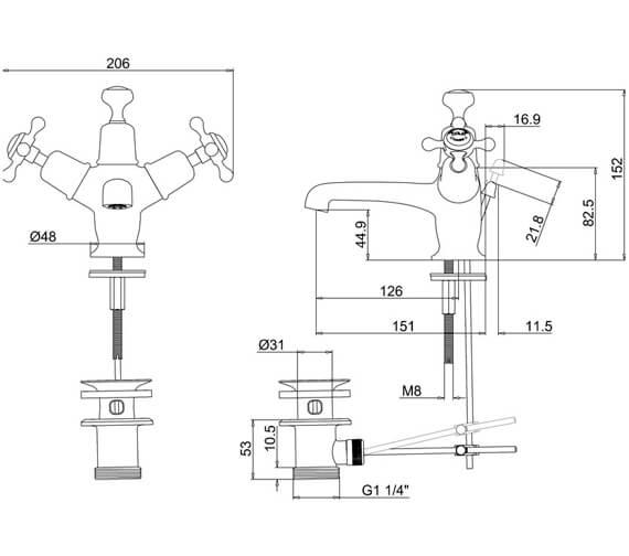 Technical drawing QS-V73005 / CL4